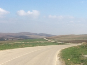 The wonderfully therapeutic rolling hills near Larisa