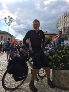 In San Marco dei Cavoti where I happened to ride into the finish line of a running race