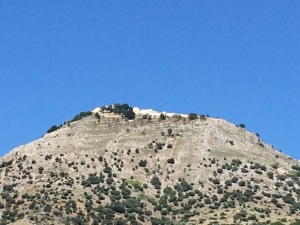 Most villages are built at the top of the hill rather than the base--I am guessing historically, for protection.
