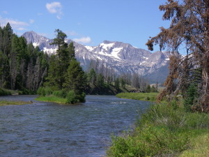 Cycling through the Sawtooth Mountains and Salmon River in Idaho in 2011