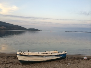 Dawn on the Adriatic Sea in  Igoumenitsa, Greece