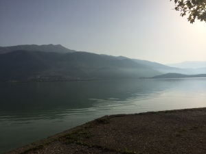 Camping on the shores of Lake Ioannina