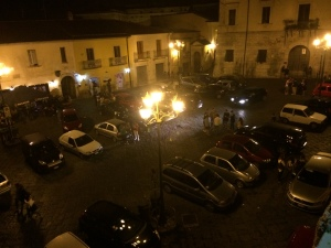 From my terrace in Benevento.  The party is just starting.