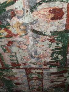 The 1,000 year old frescoes inside to Pancarlik Church