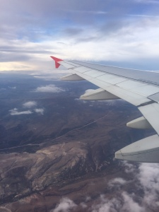 Flying to Istanbul from Konya, the first of three flights