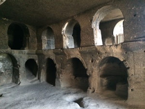 Inside the 8th century cave monastery