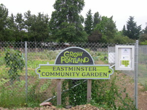 The 100-plot garden that now bears Eastminster's name