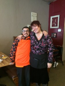 Steven and Debbe one day after learning each other's names at the Powderhorn Cafe