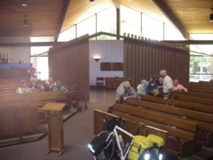 Speaking at Grace Presbyterian-Sacramento on a Labor Day Sunday while passing through, 2011