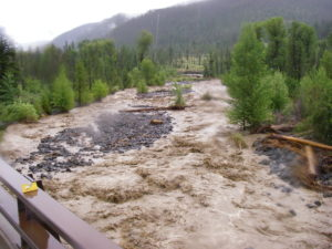 The near flash flood conditions riding out of Yellowstone, 2011